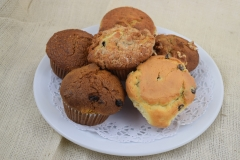 Assorted Muffins: Pumpkin, Chocolate Chip, Brand, Blueberry, Banana Walnut,