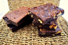 Brownies with and without Walnuts