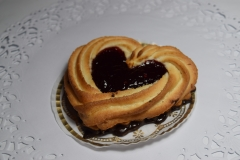 Raspberry Marzipan Heart
